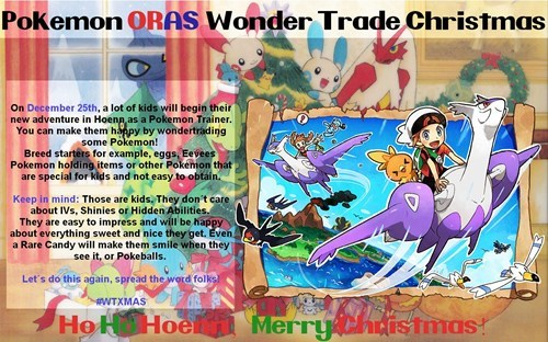 christmas,ORAS,hoenn,wonder trade