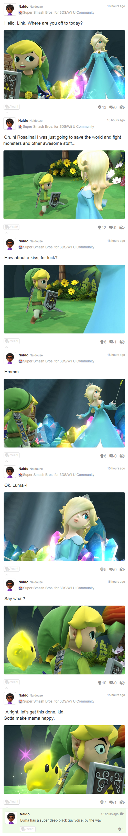 Miiverse,super smash bros,luma,rosalina,video games