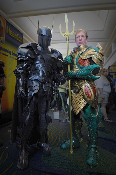 Medieval Batman and Aquaman Armor