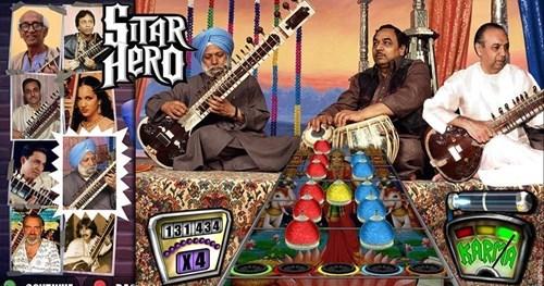 Guitar Hero,funny,sitar