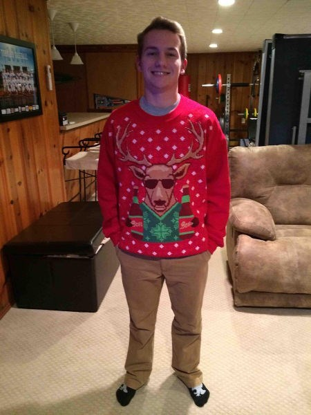 christmas,sunglasses,reindeer,poorly dressed,sweater,christmas sweaters