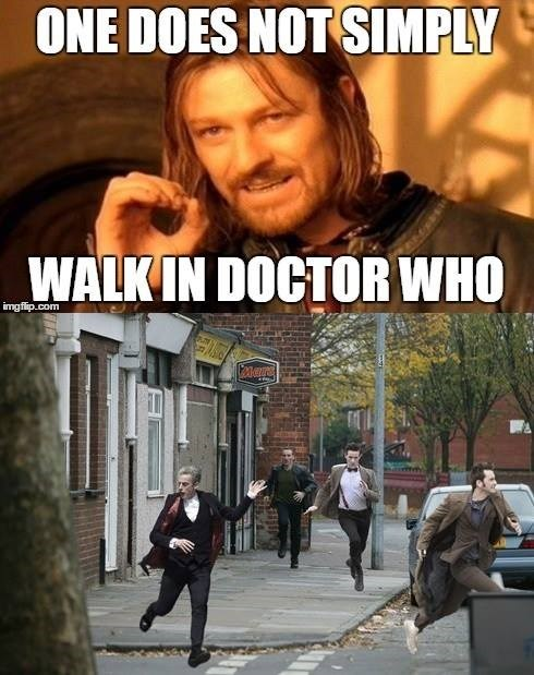 the doctor,one does not simply,Boromir,running