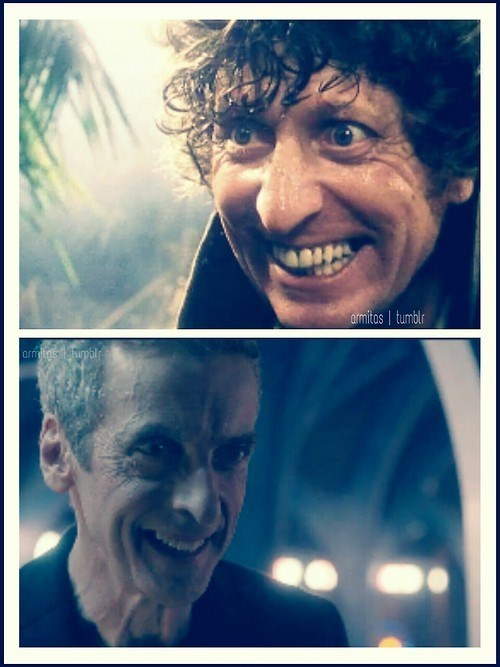 crazy,12th Doctor,4th doctor,smile