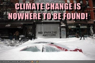 CLIMATE CHANGE IS NOWHERE TO BE FOUND!