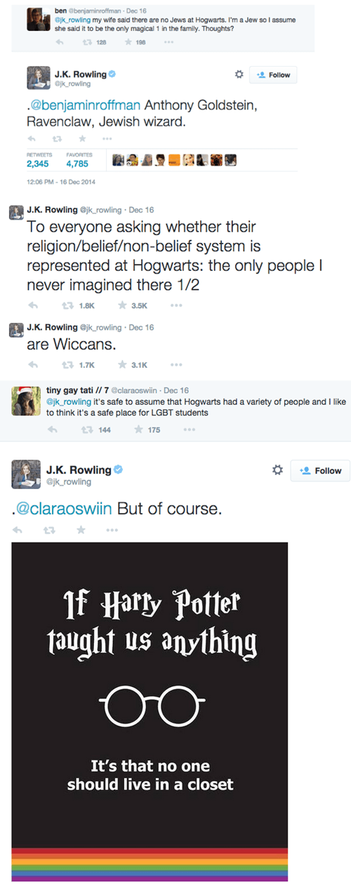 In Case You Were Wondering, There Were LGBT and Non-Christian Students at Hogwarts, You Just Never Saw Any of Them