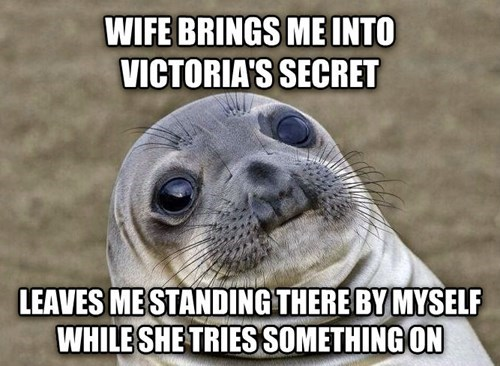 marriage,victorias secret,awkward situation seal,awkward seal