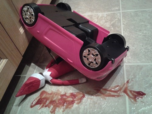 "The ""Elf on the Shelf"" Game Turns Morbid..."