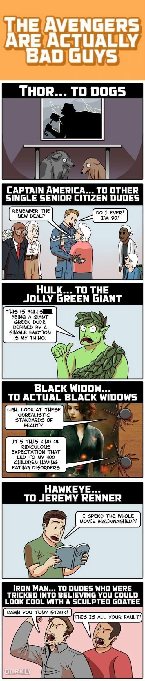 The Avengers Aren't Actually Good Guys