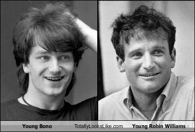 Young Bono Totally Looks Like Young Robin Williams