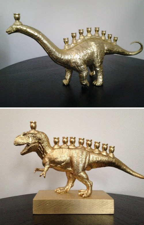 hanukkah,manora,etsy,for sale,dinosaurs