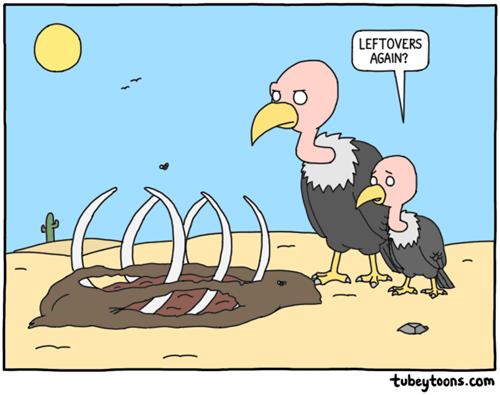 vulture,leftovers,puns,critters,food,web comics