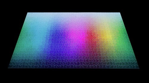 The Ultimate Hard Mode Puzzle: 1000 Pieces of Rainbow Gradient