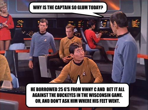 WHY IS THE CAPTAIN SO GLUM TODAY?