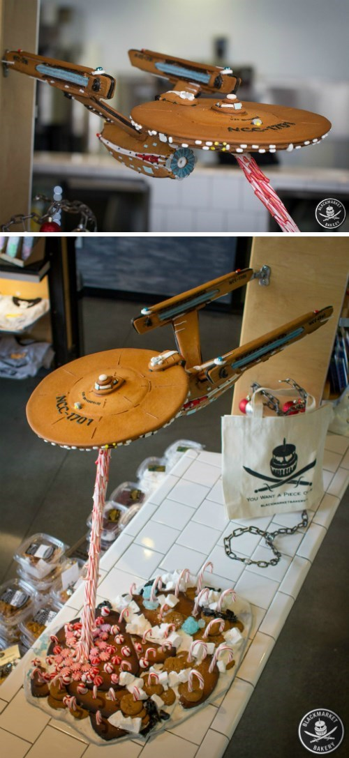 Gingerbread Enterprise Boldly Goes Into Holiday History Books