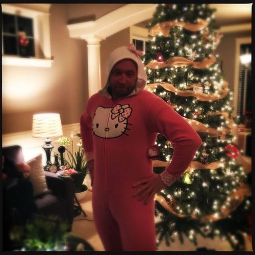 christmas,onesie,poorly dressed,christmas tree,hello kitty,g rated