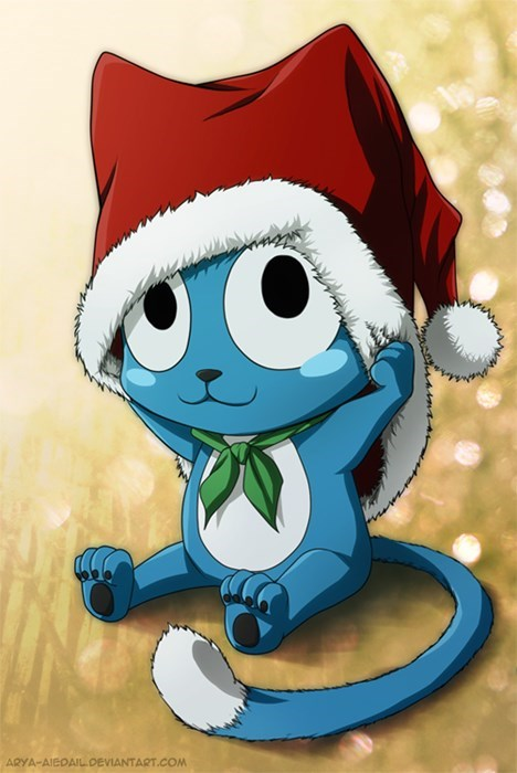 christmas,fan art,fairy tail,happy