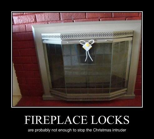 FIREPLACE LOCKS