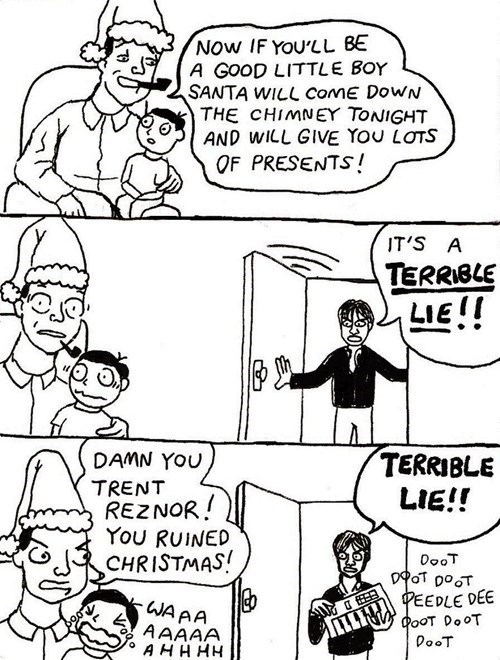 christmas,nine inch nails,sad but true,trent reznor,web comics