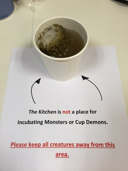 monday thru friday,sign,demon,kitchen,g rated