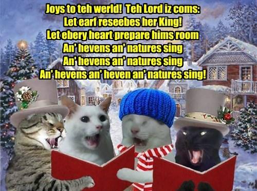 Krafty an' his sweetie Priscilla join wiff Millie an' Robin Banks to sing Krismas Carols arownd teh KKPS Campus!