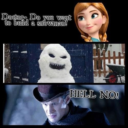 Matt Smith,11th Doctor,frozen,snowman