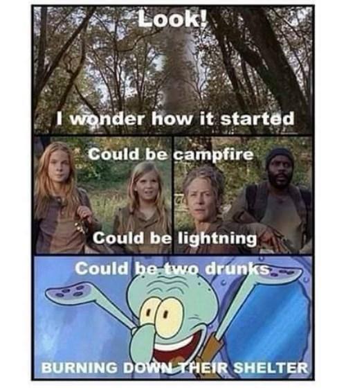 drunk,burning,The Walking Dead