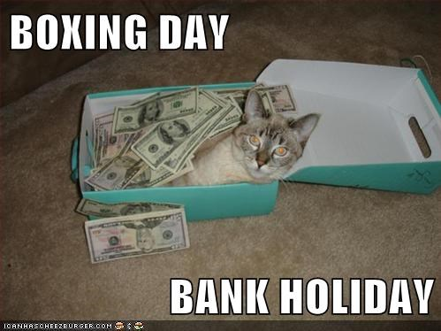 BOXING DAY  BANK HOLIDAY