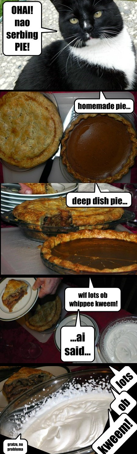 doan be shy, hab sum pie :D