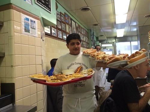 hot dog,monday thru friday,restaurant,waiter,g rated