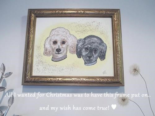 All I wanted for Christmas was to have this frame put on.. and my wish has come true! ♥