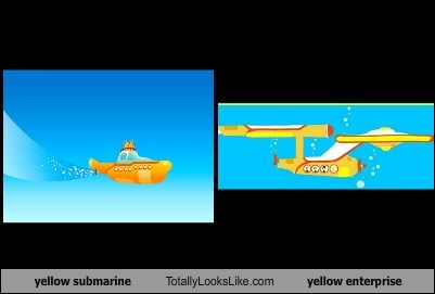 yellow submarine Totally Looks Like yellow enterprise
