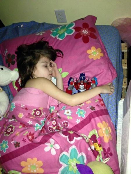 transformers,tucked in,toys,kids,parenting,sleeping,g rated