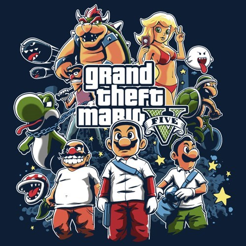 tshirts,for sale,Grand Theft Auto,mario