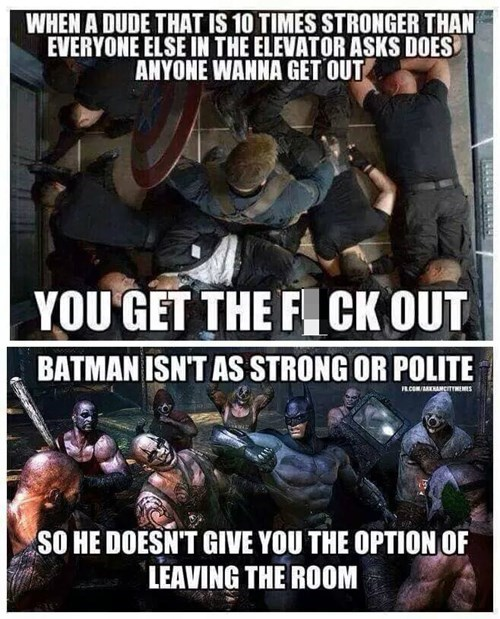 captain america,batman,manners