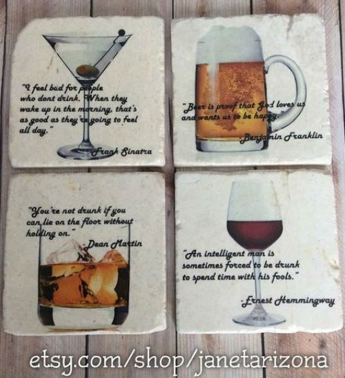 Drunken Quote Coasters