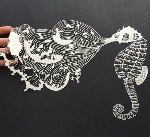 The Crazy-Detailed Paper Artwork of Maude White