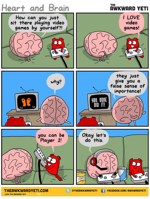 heart,brain,video games,web comics