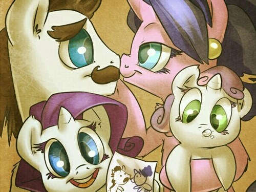 Sweetie Belle,family photo,rarity
