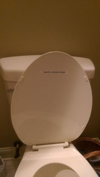 monday thru friday,label,bathroom,toilet,g rated