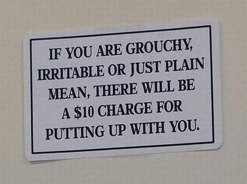 monday thru friday,sign,customers