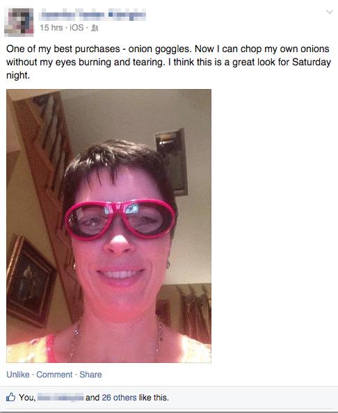 fashion,goggles,facepalm,onions