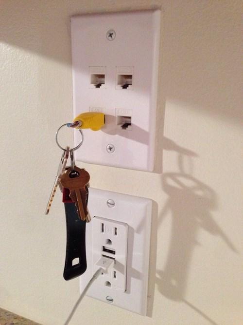 clever,keys,pro tip,life hacks