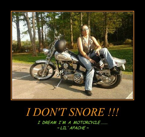 I DON'T SNORE !!!
