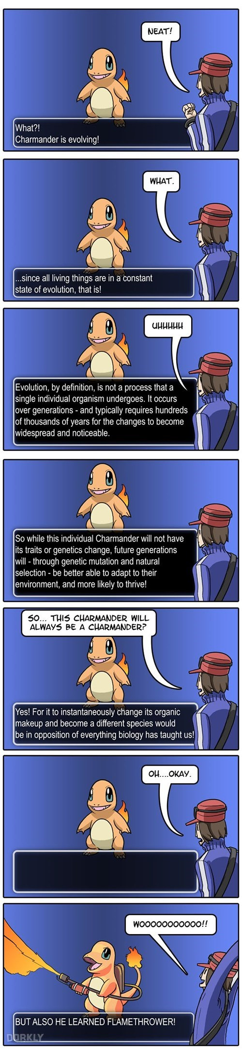Pokémon,dorkly,evolution,charmander,web comics