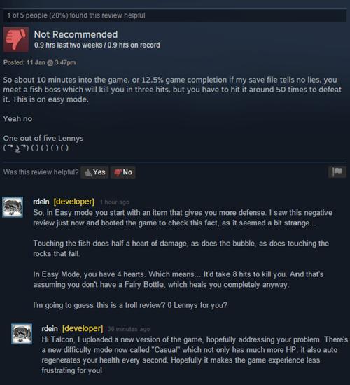 A Steam Reviewer Gets Rekt by a Game Developer