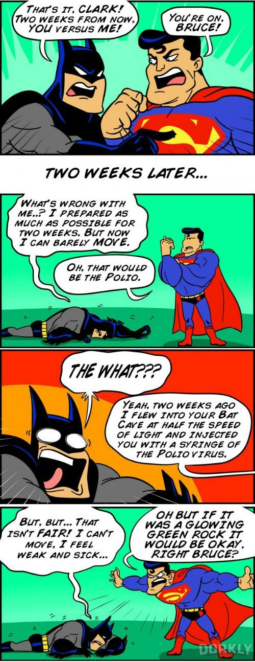 vs,batman,superman,web comics