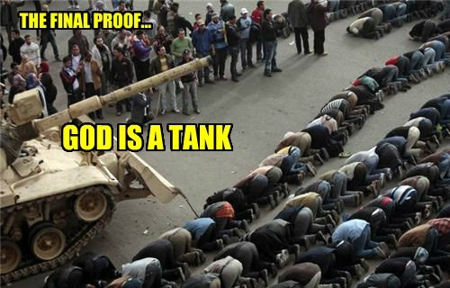 God is a tank...