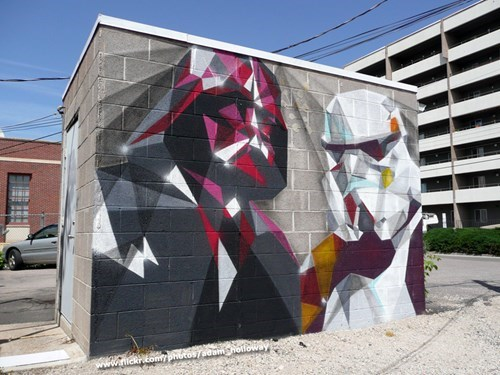Low-Poly Vader Invades the Streets