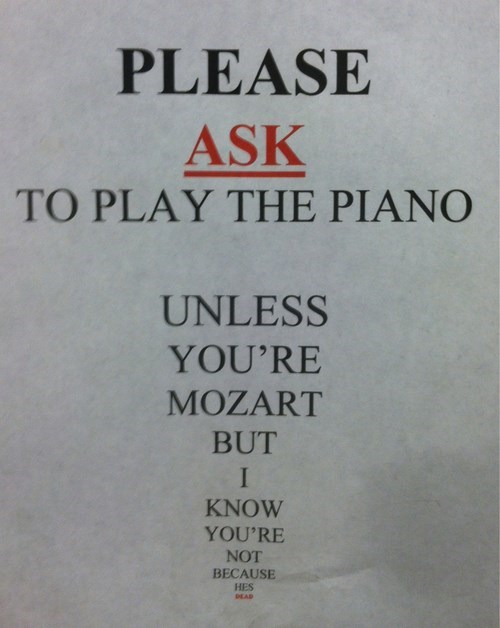 No Moonlight Sonata because Mozart is dead and we've all heard it a thousand times.