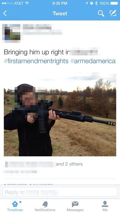 guns,twitter,facepalm,parenting,second amendment